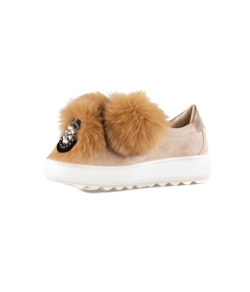 SNEAKERS DONNA PHILIPPE MODEL BEIGE VBLD PP01 PON PON