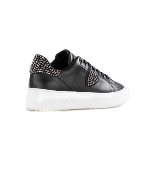 SNEAKERS DONNA PHILIPPE MODEL BGLD SD02 NOIR MADE IN ITALY