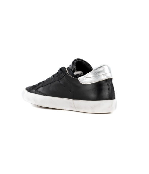 SNEAKERS DONNA PHILIPPE MODEL NERO CLLD V043 ARGENT MADE IN ITALY