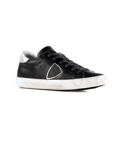 SNEAKERS DONNA PHILIPPE MODEL NERO CLLD V043 VEAU ARGENT