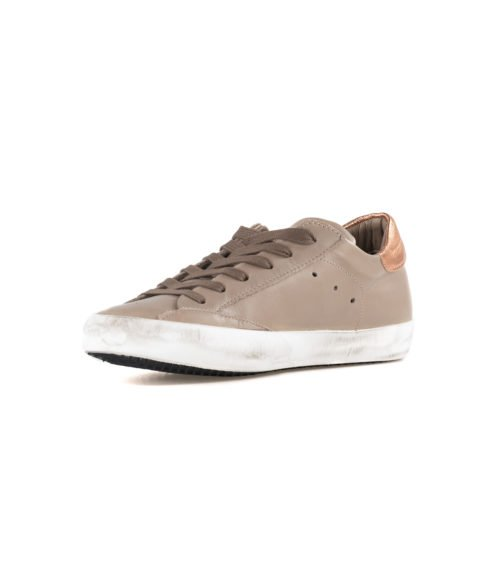 SNEAKERS DONNA PHILIPPE MODEL TORTORA CLLD V041 VEAU MADE IN ITALY