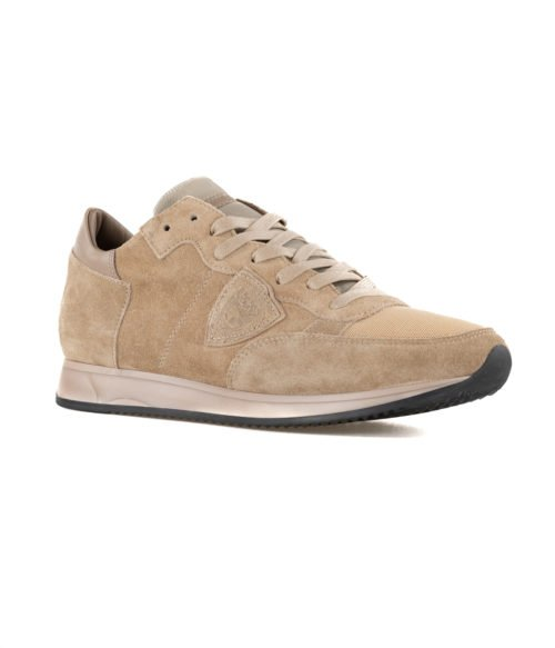 SNEAKERS UOMO PHILIPPE MODEL BEIGE TRLU X003 SUEDE MADE IN ITALY