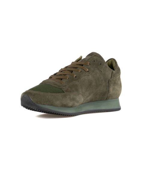 SNEAKERS UOMO PHILIPPE MODEL VERDE TRLU DS01 SUEDE VERDE