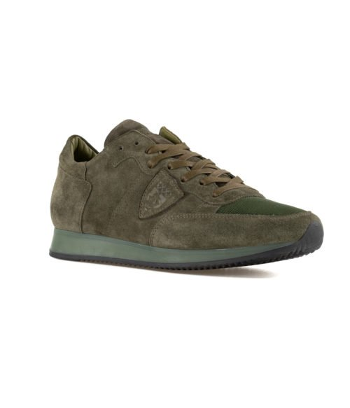 SNEAKERS UOMO PHILIPPE MODEL VERDE TRLU DS01 SUEDE VERDE MADE IN ITALY