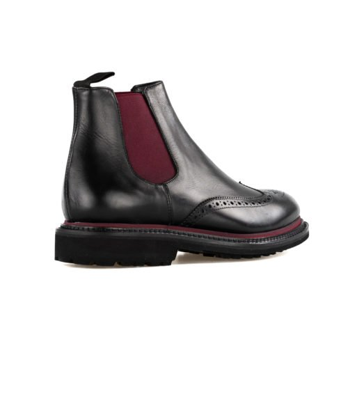STIVALE UOMO MARC EDELSON NERO PELLE MADE IN ITALY