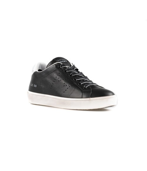 SNEAKERS DONNA LEATHER CROWN NERA PELLE W_ICONIC