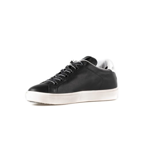 SNEAKERS DONNA LEATHER CROWN NERA PELLE