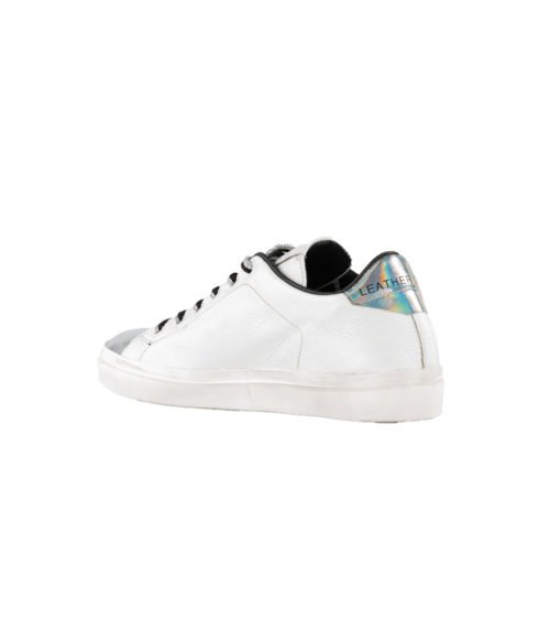 SNEAKERS DONNA LEATHER CROWN BIANCA WLC06 MADE IN ITALY