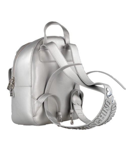 BORSA DONNA LOVE MOSCHINO GRIGIO ZAINETTO QUILTED METALLIC