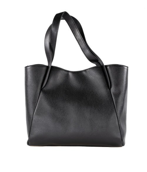 BORSA DONNA LOVE MOSCHINO NERO ECOPELLE BORCHIE PEBBLE PU