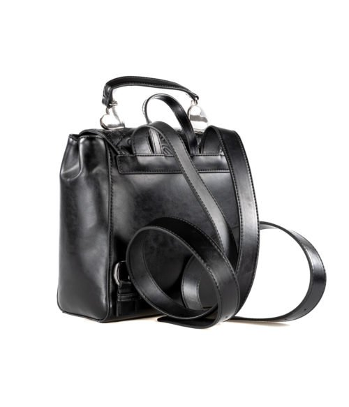BORSA DONNA LOVE MOSCHINO NERO EMBOSSED METALLIC PU NERO