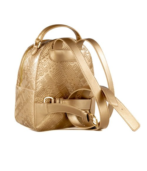 BORSA DONNA LOVE MOSCHINO ORO ZAINETTO EMBOSSED METALLIC