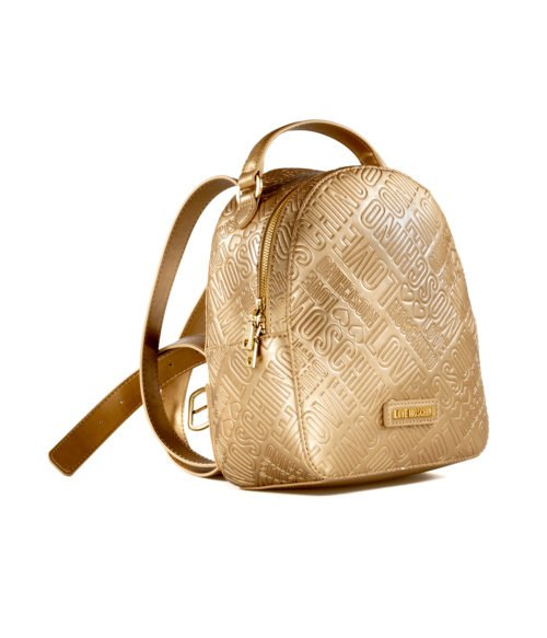 BORSA DONNA LOVE MOSCHINO ORO ZAINETTO EMBOSSED METALLIC PU