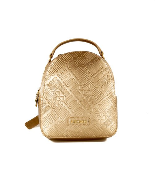 BORSA DONNA LOVE MOSCHINO ORO ZAINETTO EMBOSSED METALLIC PU ORO