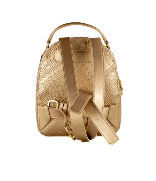 BORSA DONNA LOVE MOSCHINO ORO ZAINETTO GOLD EMBOSSED METALLIC PU ORO