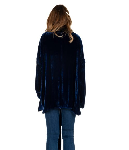 GIACCA DONNA FORTE FORTE BLUETTE VELLUTO SETA 5838 KIM MADE IN ITALY jacket