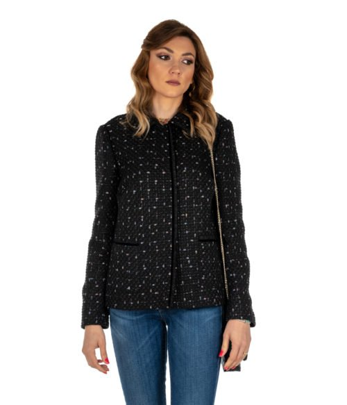 GIACCA DONNA TEN WAYS TO BE NERO OPERATO BLACK MADE IN ITALY JACKET