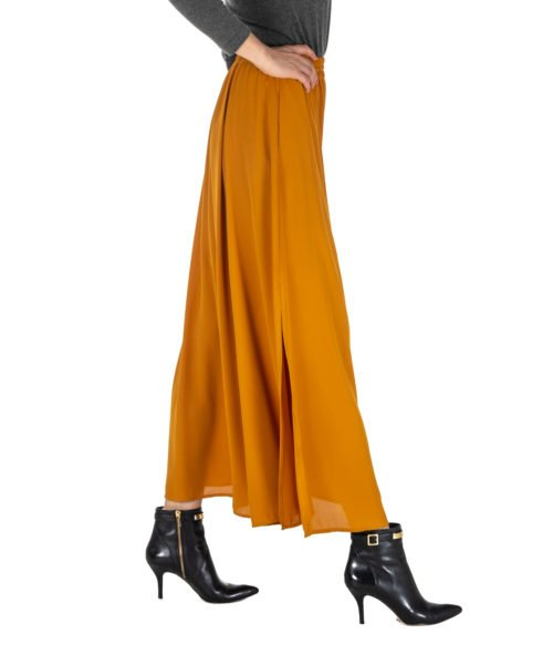 GONNA DONNA MERCI OCRA LUNGA MGN110AMBRA MADE IN ITALY SKIRT WOMAN