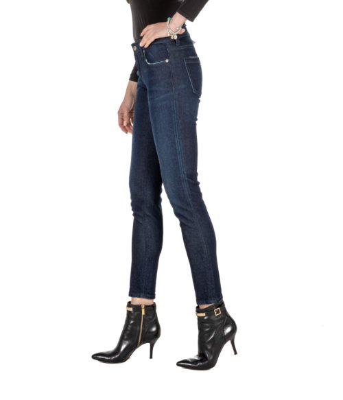 JEANS DONNA DONDUP BLU DENIM SLIM FIT PANTALONE BAKONY MADE IN ITALY DP 266 800