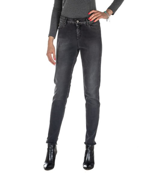 JEANS DONNA FLY GIRL GRIGIO DENIM SKINNY STRETCH MADE IN ITALY JEANS