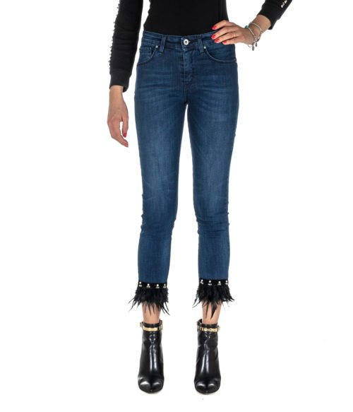 JEANS DONNA KOCCA JEANS BLU DENIM SKINNY FIT MADE IN ITALY MOD. LOST