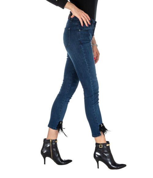 JEANS DONNA KOCCA JEANS BLU DENIM SKINNY FIT MOD LOST MADE IN ITALY