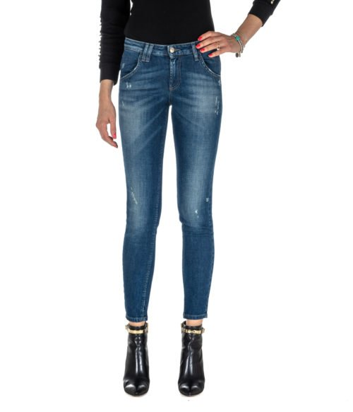JEANS DONNA ROY ROGER'S BLU SKINNY FIT ELIONOR WOMAN DENIM STRETCH MADE IN ITALY