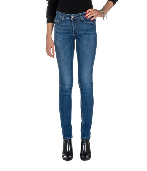 JEANS DONNA ROY ROGER'S BLU STRAIGHT FIT FLO WOMAN DENIM SUPER STRETCH MADE IN ITALY