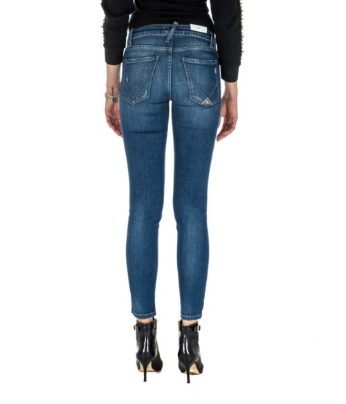 JEANS DONNA ROY ROGER'S SKINNY FIT ELIONOR WOMAN DENIM STRETCH MADE IN ITALY BLU