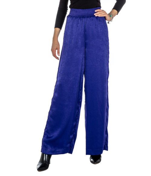 PANTALONE DONNA ATTIC AND BARN VIOLA ATPA MADE IN ITALY