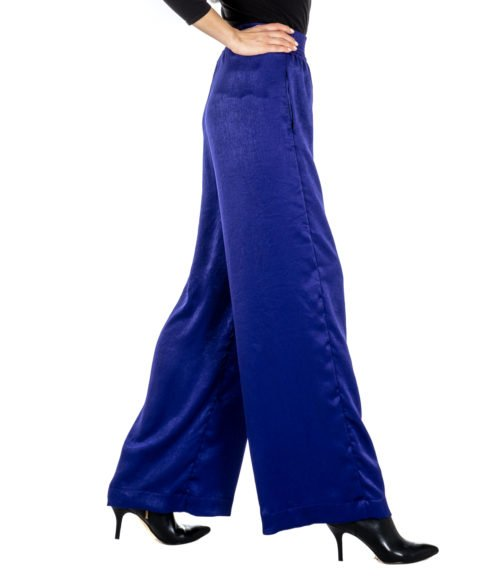 PANTALONE DONNA ATTIC AND BARN VIOLA ATPA0 MADE IN ITALY