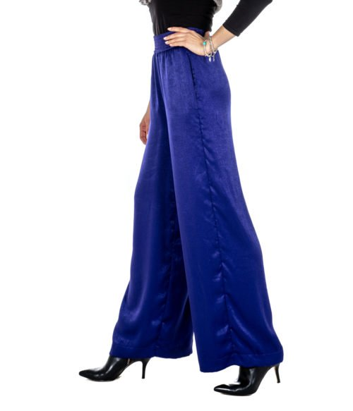 PANTALONE DONNA ATTIC AND BARN VIOLA ATPA02 MADE IN ITALY
