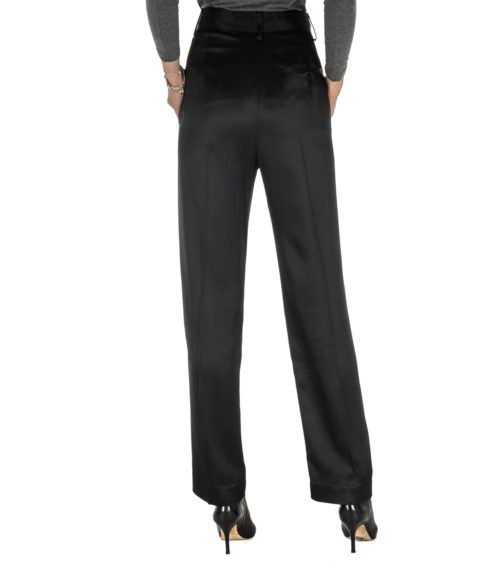 PANTALONE DONNA DONDUP NERO BLACK PANTALONE CEARA MADE IN ITALY DP374
