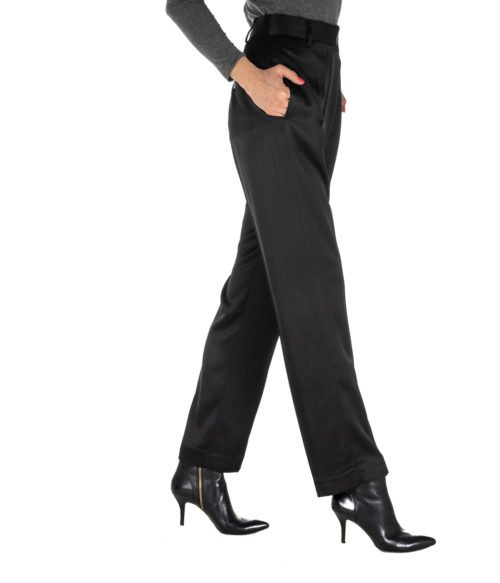PANTALONE DONNA DONDUP NERO BLACK PANTALONE CEARA MADE IN ITALY DP374 999