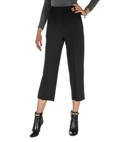 PANTALONE DONNA DONDUP NERO LANA PANTALONE IVY DP030 999 MADE IN ITALY