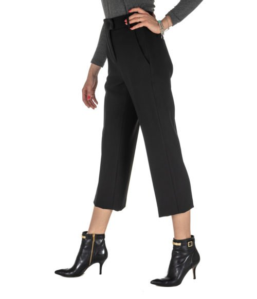 PANTALONE DONNA DONDUP NERO LANA PANTALONE IVY DP030 999 MADE IN ITALY BLACK