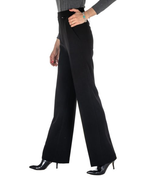 PANTALONE DONNA FLY GIRL NERO PALAZZO 3012804 MADE IN ITALY BLACK PANTS