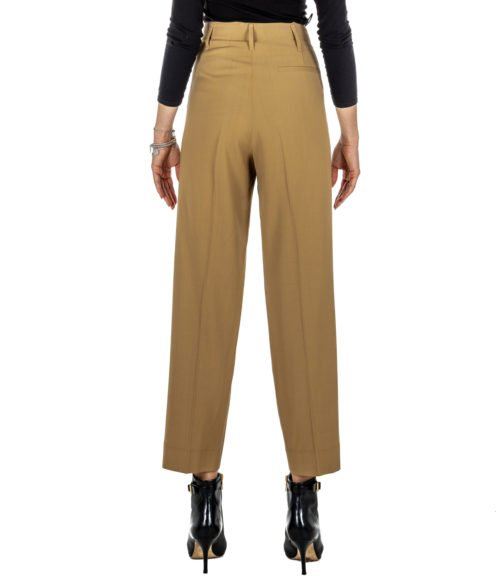PANTALONE DONNA FORTE_FORTE BEIGE LANA VISCOSA 5816_MY PANTS MADE IN ITALY