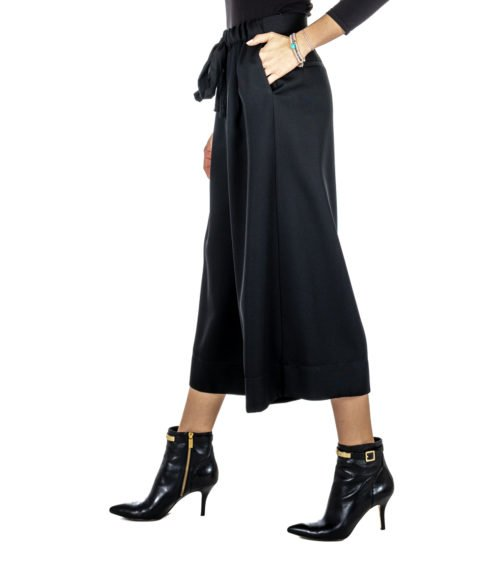 PANTALONE DONNA FORTE_FORTE NERO LANA 5814 PANTS MADE IN ITALY