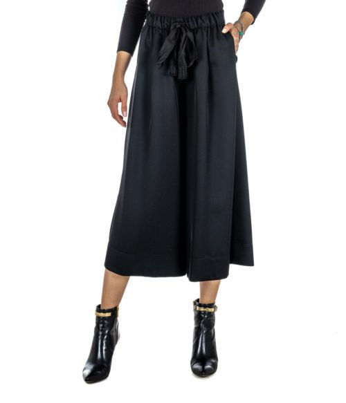PANTALONE DONNA FORTE_FORTE NERO LANA 5814_MY PANT MADE IN ITALY