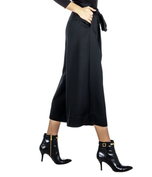 PANTALONE DONNA FORTE_FORTE NERO LANA 5814_MY PANTS MADE IN ITALY