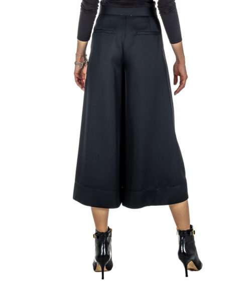 PANTALONE DONNA FORTE_FORTE NERO LANA 5814_MY PANTS MADE IN ITALY BLACK