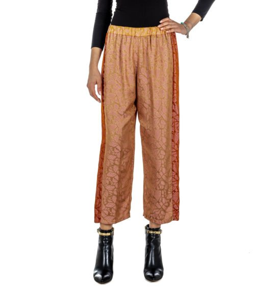 PANTALONE DONNA FORTE_FORTE ROSA FANTASIA 5724_MY PANT MADE IN ITALY