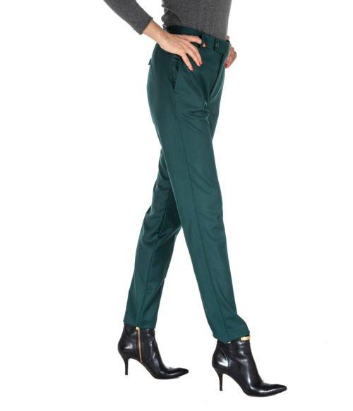 PANTALONE DONNA HANITA VERDE LANA ADERENTE P831.2205 MADE IN ITALY PANTS WOMAN GREEN