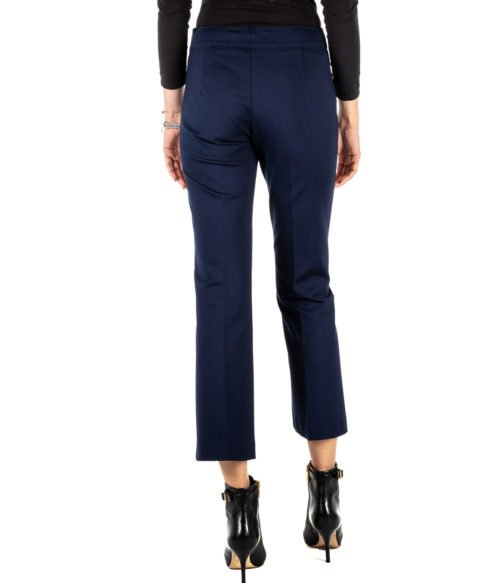 PANTALONE DONNA LANA CAPRINA BLUE SLIM FIT PANTS PF MADE IN ITALY
