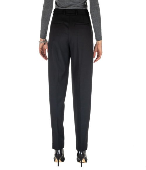 PANTALONE DONNA MAURO GRIFONI NERO LANA GD240111 MADE IN ITALY