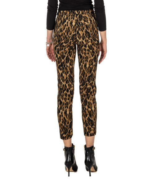 PANTALONE DONNA OTTO D'AME FANTASIA ANIMALIER MTODP MADE IN ITALY