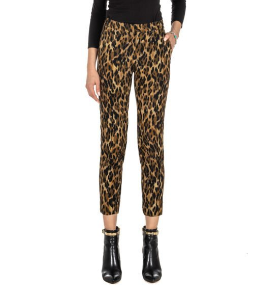 PANTALONE DONNA OTTO D'AME FANTASIA ANIMALIER MTODP8109 MADE IN ITALY