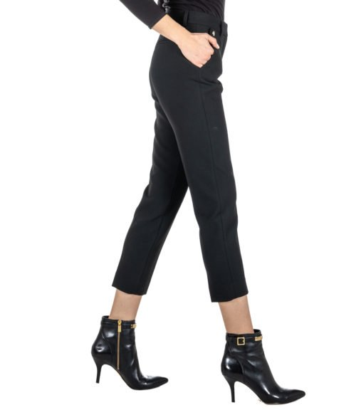 PANTALONE DONNA SPACE SIMONA CORSELLINI NERO SKINNY STRETCH MADE IN PORTUGAL