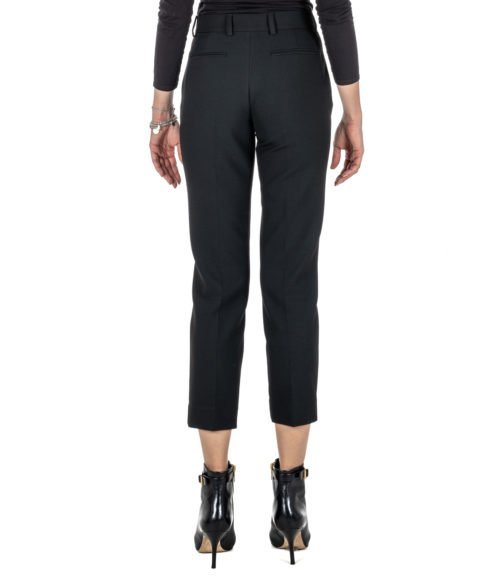 PANTALONE DONNA SPACE SIMONA CORSELLINI NERO SKINNY STRETCH PANTS BLACK